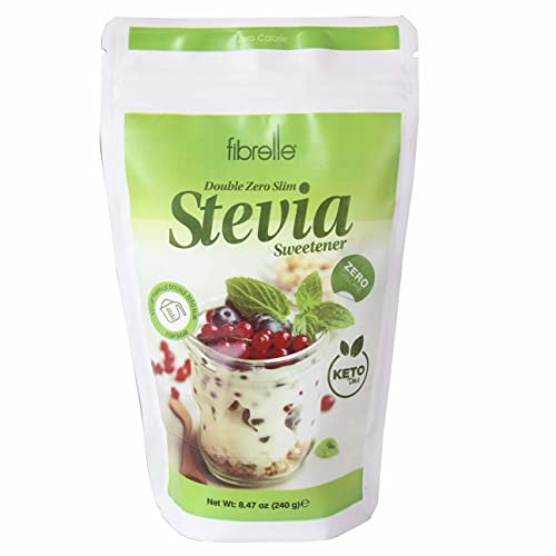 Stevia Plant-Based Sweetener Easy to Use Stevia Powder All Natural Alternative Sweetener, Sweeter than Processed Sugar, All-Purpose Sugar Replacement Powder 1:2, 8.5 oz (Pack of 1)
