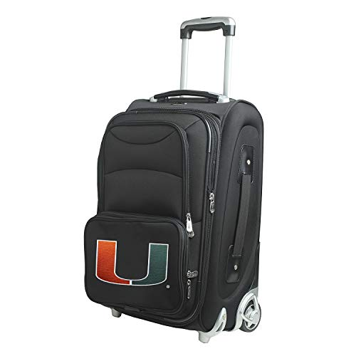 Denco NCAA Miami Hurricanes 21-inch Carry-On Luggage