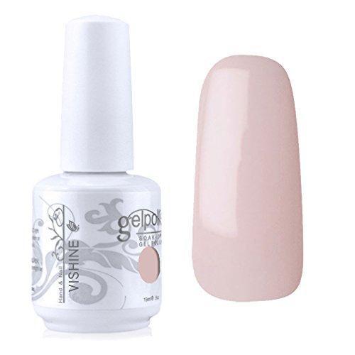 Vishine Vernis à ongles Semi-permanent Gel Polish UV LED Soak Off Manucure Rose flou (1361)