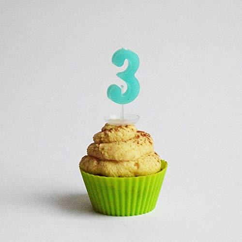 Geburtstagskerzen Zahlen Kuchen Torten Kerze Geburtstag Feier Kinder Party NEU, Zahl:3
