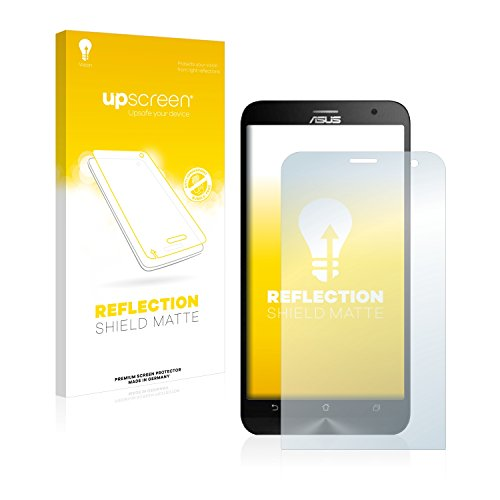 upscreen Entspiegelungs-Schutzfolie kompatibel mit Asus ZenFone 2 Laser ZE600KL – Anti-Reflex Bildschirmschutz-Folie Matt