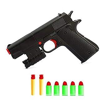 Teanfa Kid Toy Gun Realistic 1 1 Scale Colt M1911A1 Rubber Bullet Pistol Mini Pistols