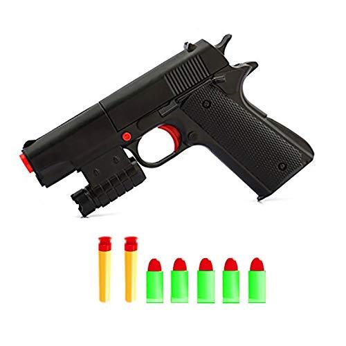 Teanfa Kid Toy Gun Realistic 1:1 Scale Colt M1911A1 Rubber Bullet Pistol Mini Pistols