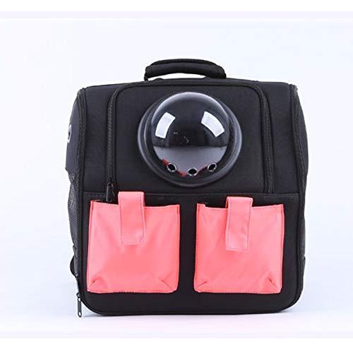 hgkl Cat backpack Portable Pet Backpack Dog Travel Bag Cat Puppy Breathable Pet Double Pocket (Color : Black)