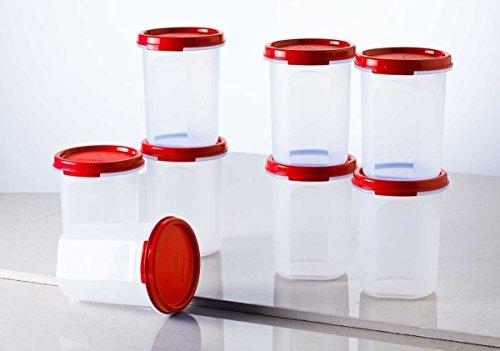 Tupperware Plastic Container Set, 440ml, Set of 8, Multicolour