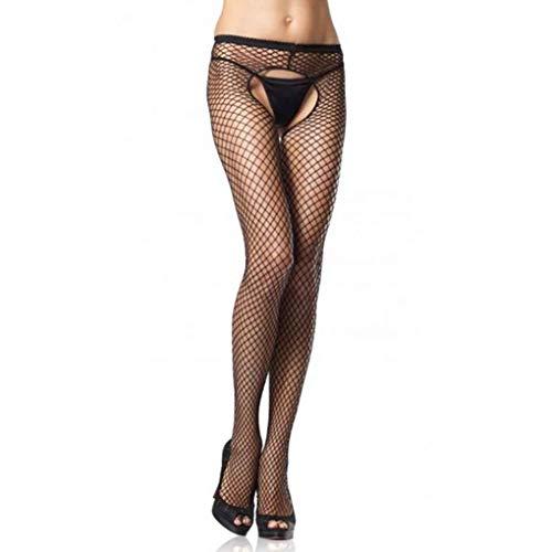 Floridivy Vrouwen Sexy open kruis netkousen effen kleur panty netkousen, Vrouwen Panty Kousen Lingerie