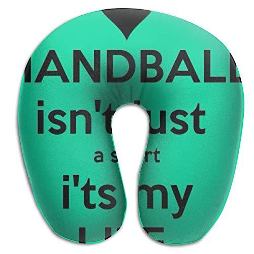 Just Handball Nackenkissen, das Originale U-förmige Reisekissen für Komfort und Bequemlichkeit auf Reisen - Mitternacht