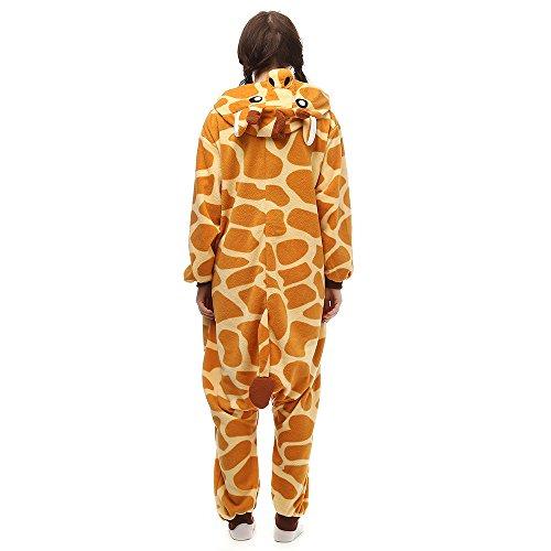 Pijamas Animales Mujer Disfraces de Cosplay para Adultos Pijama Jirafa Enteros, L