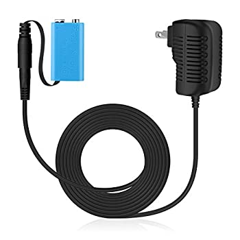 Lenink Replacement AC Power Supply Adapter for 9V Battery,Replace 9V Battery