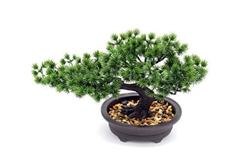 Artificial Plants Bonsai Pine Tree, Artificial House Welcoming Pot Plants, Japanese Pine Desktop Display Simulation, Living Room, Zen Garden Decoration Decor (Zen)