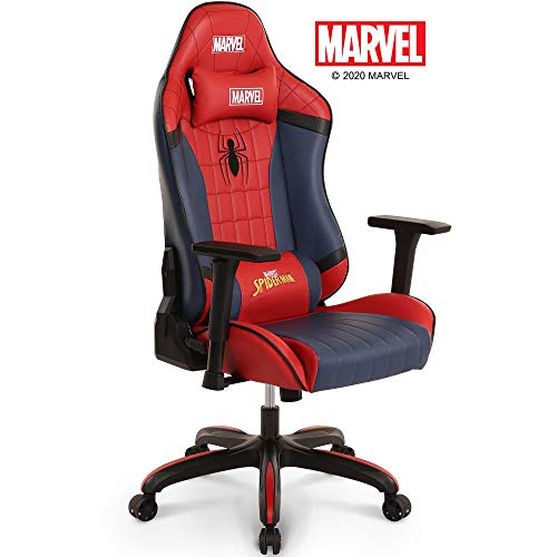 Marvel Avengers Big & Wide Heavy Duty 400 lbs Gaming Chair Office Chair Computer Racing Desk Chair Black - Endgame & Infinity War Series, Marvel Legends (Red (Spider Man))