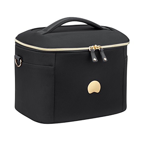 DELSEY PARIS 201831000 Beauty Case con Fascia per Asta Trolley, Nero, 32 cm