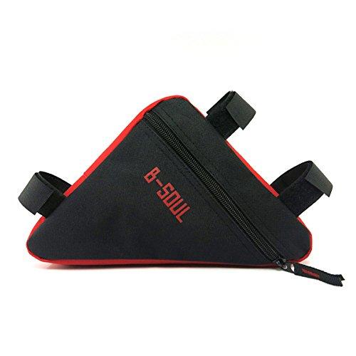 Demiawaking-Astuccio triangolare anteriore per bici con supporto di Borsa per sella da bicicletta