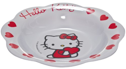 Sanrio - Assiette creuse en Mélamine - Hello Kitty Coeur.