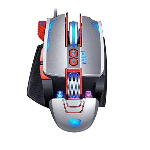 Funkmaus Maus V9 Gaming Mouse Gaming Mechanisch Makro Definition LOL Chicken Mouse Pro V9 Gaming Mouse USB-Kabel 3200DPI einstellbar 8 Custom Button RGB Mechanisch