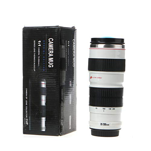 VVXXMO 400ml cámara portátil lente en forma de termo,EF 70-200mm taza de bebida,Taza de café