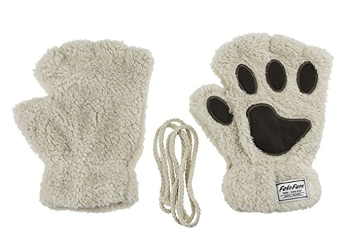 FakeFace Home Damen Mädchen Handschuhe Winterhandschuhe Niedlichen Cartoon Tier Plüsch Fäustlinge warmen Winter halbe Fingerhandschuhe