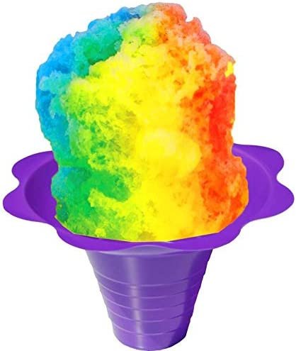 Flower Cups for Serving Shaved Ice or Snow Cones Medium 8 Ounce Case of 500 product image