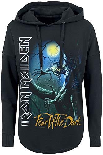 Iron Maiden Fear of The Dark Donna Felpa con Cappuccio Nero M 100% Cotone Regular