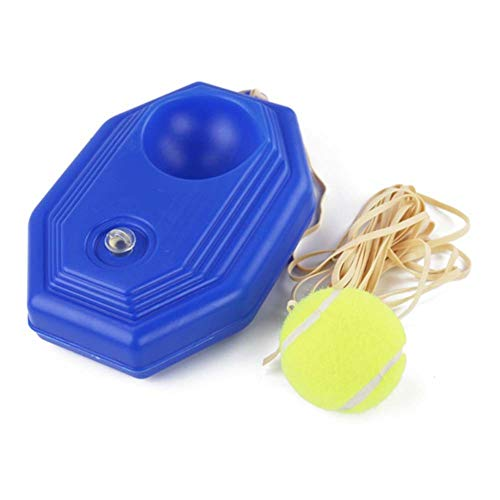 ZZZTWO Tennis Trainer Rebound Ball with String for Adult, Tennis Balls Training Self, Tennis Home Practice Equipment Single Practice with 1 X Base 1 X Ball with Rope