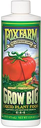 Fox Farm 6-4-4, 1-Pint FX14092 Grow Big Liquid Concentrate...