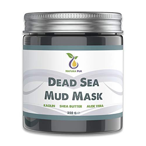 Totes Meer Maske 250g, vegan - NATURKOSMETIK Anti Pickel, Mitesser Maske und gegen Akne - Gesichtsmaske gegen unreine Haut - Schlamm Maske für Gesicht und Körper