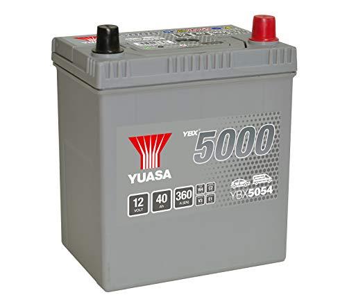 Yuasa YBX5054 Hochleistungs-Starterbatterie, silber