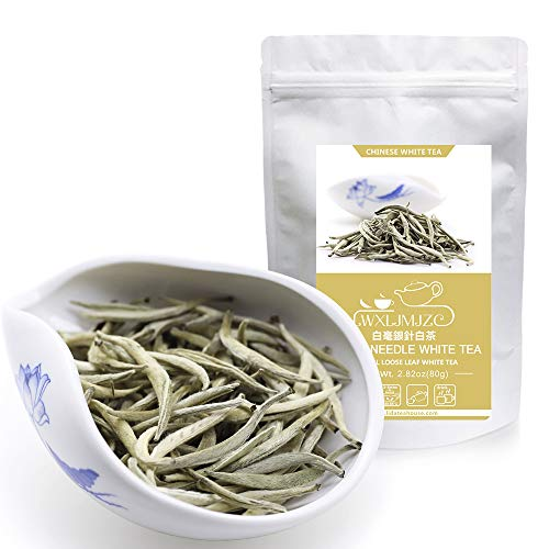 ZJZ-最強美肌茶・白茶 白毫銀針 ホワイトティー ( 強力な抗酸化物質が豊富 )中国茶 お茶 80g