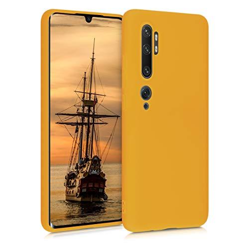 kwmobile Custodia Compatibile con Xiaomi Mi Note 10   Note 10 PRO - Cover in Silicone TPU - Back Case per Smartphone - Protezione Gommata Giallo Zafferano