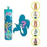 Barbie Color Reveal, muñeca que revela sus colores con agua, incluye ropa y accesorios (Mattel...