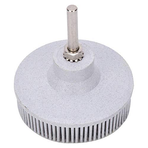 Borstenbürstenscheibe 3-Zoll-Gummi-Schleifbürsten-Polierschleifscheibe zum Entfernen von Gratrost(Weiß)