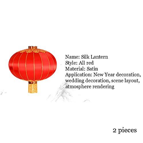 Chinesische Laternen für die Innen- und Außenbereich, ein Paar von 2, roten Laternen mir Glück Chinese New Year Laternen I Laternen rot I Hochzeit Laternen I Partei Laternen,Flockinglantern,150cm