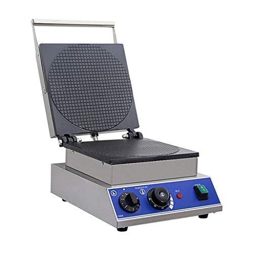 Doppelte kommerzielle Waffeleisen Edelstahl elektrische Antihaft-Eierwaffelmaschine Home Toaster Puff Cake Maker Eismaschine