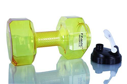 Fitastic Hercules 2.2 Litre Dumbbell Gallon(Yellow)