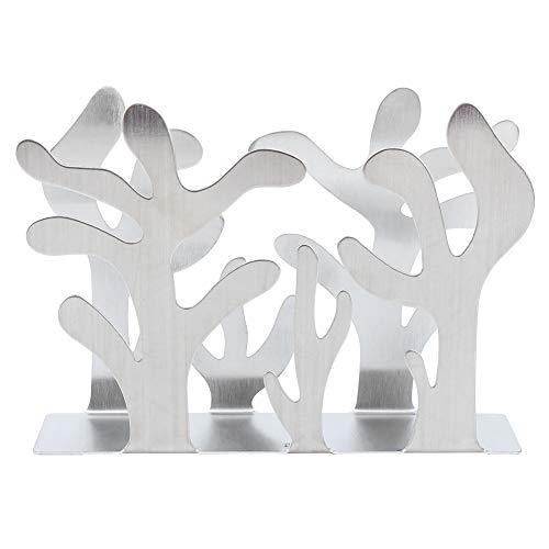 Telituny Soporte para pañuelos de Acero Inoxidable con Forma de Plantas Soporte para pañuelos dispensador Servilletero Estante para Papel de Mesa