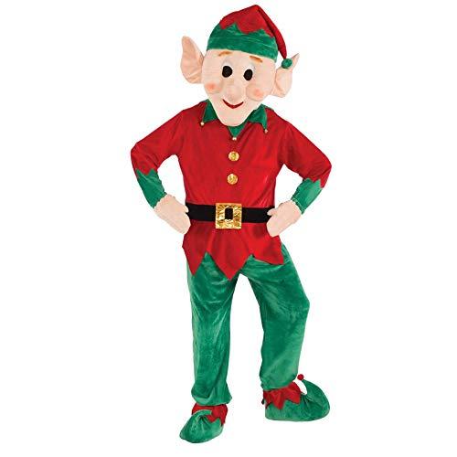 UNiiyi Navidad Cosplay Duende/Papa Noel/Reno/Monigote de Nieve Disfraz de Mascota para Adulto