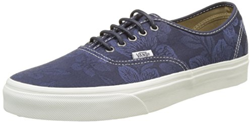 Vans Herren Ua Authentic Sneaker, Blau (Floral Jacquard Parisian Night/Blanc De Blanc), 41 EU