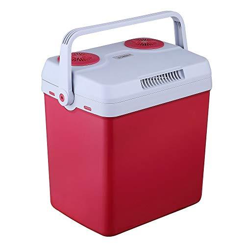 Arebos 25 Liter Kühlbox | zum Kühlen und Warmhalten | Mini Kühlschrank | Thermo-elektrische Kühlbox | mit ECO Modus | 12/230 V für Auto und Steckdose