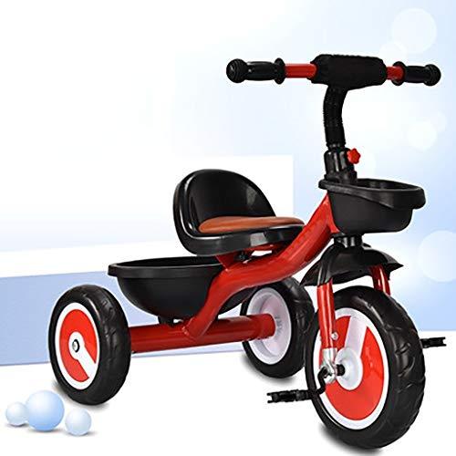 GYF Triciclo Infantil Inflable Sin Multifunción Triciclo 1-3 Años del Niño De La Bicicleta del Coche Equilibrio 3 Colores 70x46x58CM (Color : Red)