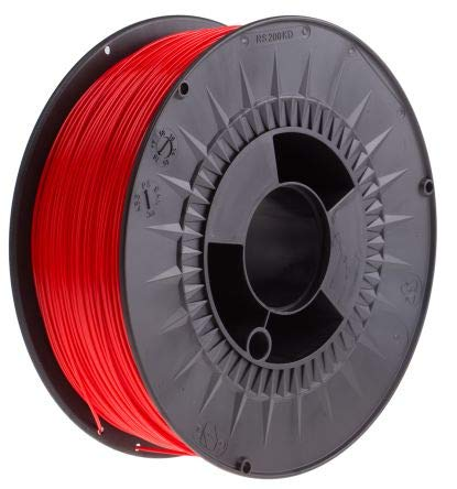 RS PRO 1.75mm Red PLA 3D Printer Filament, 1kg