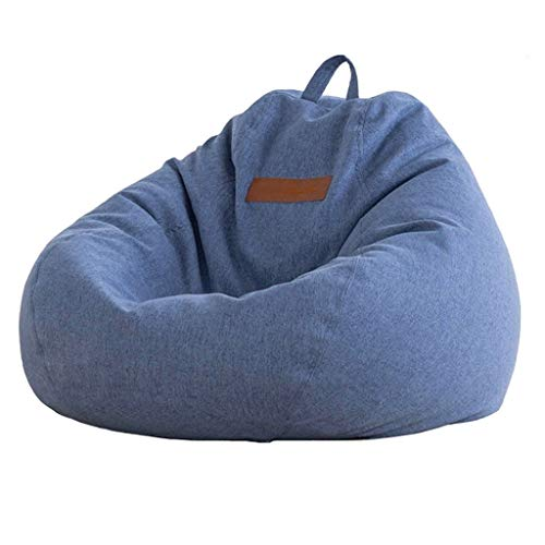 Bean Bag Home Chair Filled with ECO-Friendly EPP Particles, Adult Relieve Fatigue, Leisure Sofa Cushion with Zipper, Easy to Clean, 80x90cm, 10 Colors (Color : Blue-3)