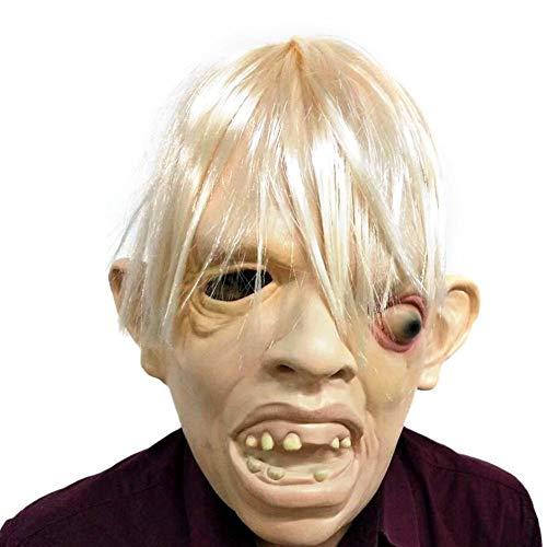 Sunneey Latex Rubber griezelig schrikbaar gezichtsmasker hoofdmasker vrechtbaar voor Halloween, Kerstmis, kostuum, party
