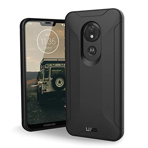 Urban Armor Gear Scout Hülle für Motorola Moto G7 Power Handyhülle nach US-Militärstandard (Verstärkte Ecken, Sturzfest, Vergrößerte Tasten) - schwarz