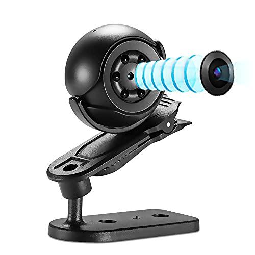 Mini Camara Espia Oculta, 1080P HD Micro Camara Vigilancia Grabadora De Video Portátil con IR Visión Nocturna Detector De Movimiento, Camara Seguridad Pequeña Inalambrica Interior/Exterio