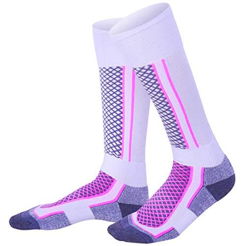 LORYLOLY calcetines de esquí para hombres mujeres niños niñas, Calcetines térmicos de invierno unisex largos para adultos y niños, Calcetines gruesos de nieve cálida para patinaje Esquí Snowboard