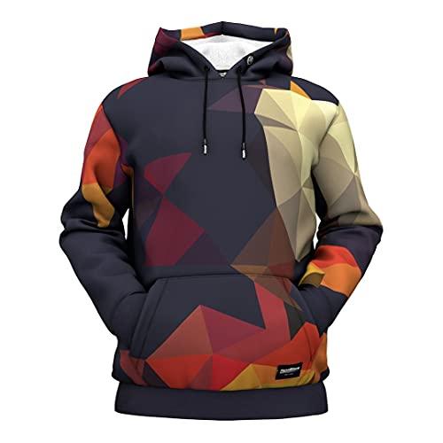 Fresh Hoods Kapuzenpullover   3D gedruckte Langarm Pullover Sweatshirts, Würfel, S
