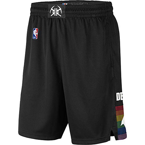 Denver Nuggets Youth 8-20 Official Swingman Dri-Tek Performance Shorts (Youth - Small, Denver Nuggets Black City Edition Shorts)