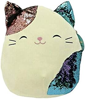 """Squishmallows 16"""" Soft Plush Toy Pillow Cat with Glitter Belly Stuffed Animal Gift Present"""