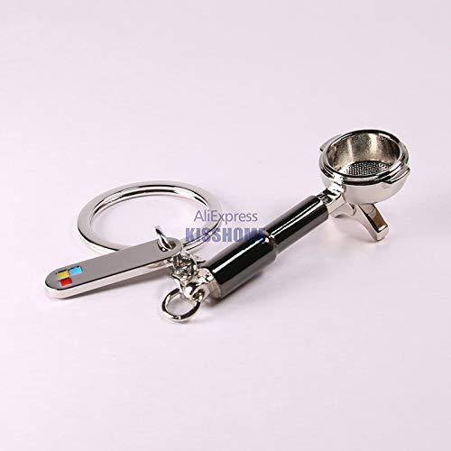 Hangon Pärchen Espresso Zubehör Kaffee Schlüsselanhänger Mini Kaffee Tamper Schöner Kaffee Schlüsselanhänger Cafe Geschenk für Kaffeeliebhaber Schlüsselanhänger