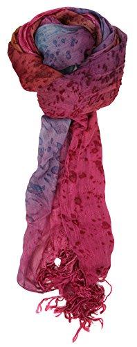 Love Lakeside-Women's Watercolor Crinkle Scarf (One, Magenta Purple)
